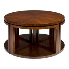 Brownstone Nesting Cocktail Table W/ 4 Stools