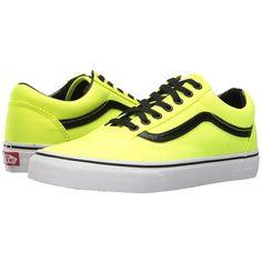 Vans Old Skool ((Brite) Neon Yellow/Black) Skate Shoes ($60