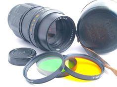 TAIR -11A 135mm F2.8 Prime Lens M39 (Leica Screw) w/3x Filters & Case KMZ USSR
