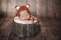 Newborn Fox Mohair Baby Hat