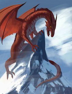 Red Dragon Mountain, William Montalvo on ArtStation at https://www.artstation.com/artwork/Ozkwy