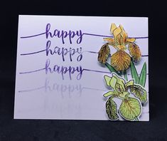 First attempt at this technique. Probably need a lot more practice. Handmade Greetings, Greeting Cards Handmade, Ark, Happy, Design, Design Comics
