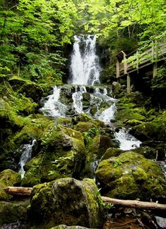 Dickson Falls, Fundy National Park, New Brunswick, Canada