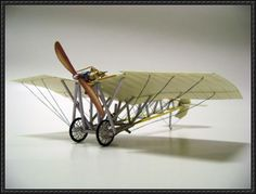 Santos-Dumont Demoiselle Free Early Aircraft Paper Model Download