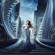 femme-ville-futuriste-tenue-guerriere