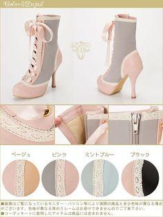 カラーバリエーション Kawaii Fashion, Lolita Fashion, Cute Fashion, Fashion Shoes, Fashion Outfits, Kawaii Shoes, Kawaii Clothes, Lolita Shoes, Lolita Dress