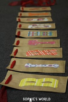 Making a Recycled Birthday Banner|Step 5|sophie-world.com