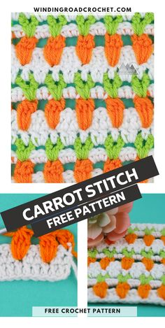 Learn to crochet the pretty carrot stitch with this easy to follow video tutorial and photo tutorial. Crochet Stitches For Blankets, Baby Blanket Crochet, Crochet Yarn, Hand Crochet, Crochet Hooks, Free Crochet, Crochet Granny, Baby Knitting Patterns, Stitch Patterns