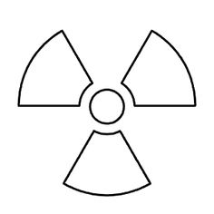 Toxic Waste Symbol Black And White Out the radiation symbol