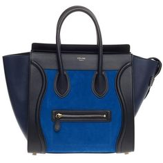 Celine Tricolor Luggage Nubuck Mini ($19) ❤ liked on Polyvore featuring bags and luggage