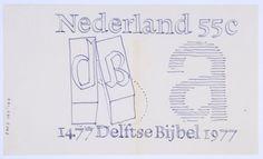 Postage stamp design sketches. 1977.