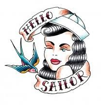 Hello Sailor Pin Up Tattoo