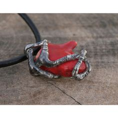 red coral pendant, red coral necklace, raw pendant, gemstone pendant,... (147 PLN) ❤ liked on Polyvore featuring men's fashion, men's jewelry, men's necklaces, mens necklaces, mens pendant necklace, mens watches jewelry and mens pendants