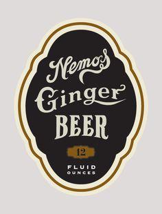 Label for a fine Ginger Beer Label Design, Packaging Design, Branding Design, Logo Design, Ginger Drink, Ginger Beer, Ginger Food, Beer Packaging, Beverage Packaging