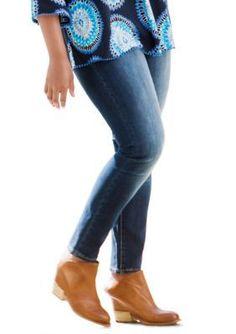 Crown  Ivy  Blue Plus Size Skinny Denim Jean -  ular Inseam