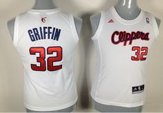 nba #32 Los Angeles Clippers Griffin white women jerseys