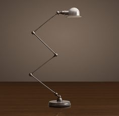 Atelier Scissor Task Floor Lamp Grey Enamel