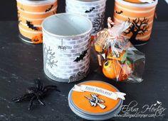 Pringelsdose mit Halloween-Schoki, Stampin Up Österreich
