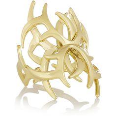 Ana Khouri Arachnid 18-karat gold ring (€4.195) ❤ liked on Polyvore featuring jewelry, rings, fine jewelry, gold, fine jewellery, yellow gold rings, gold ring, 18k gold jewelry and ana khouri