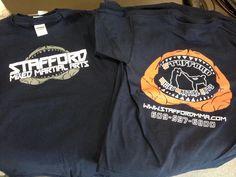Stafford MMA T-Shirts designed and screen printed by Coastal Sign & Design, LLC #customclothing #customtshirts #mma