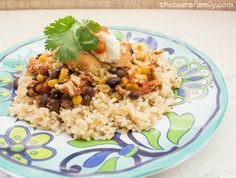 Trim Healthy Mama Southwest Chicken in the Crock Pot from thecoersfamily.com THM E Meal
