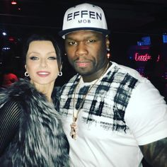 """With 50Cent at last night wrap party for STARZ Power! Glad to be a part of the season three of this amazing show!#irinadvorovenko #fiftycent @50cent…"""