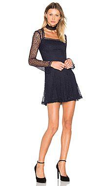 Web Lace Square Neck Dress