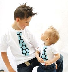 super cute: Big Brother Little Brother Tie shirts (via etsy)