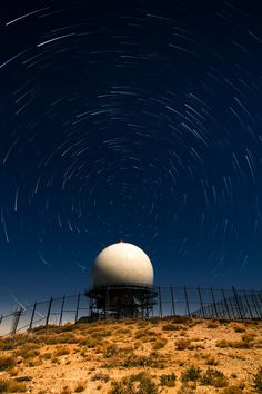 Mt Laguna - startrails over USAF radar dome by Eric Larson on 500px.  We went to the swimming pool at the AFB and a couple of times we star gazed at night.