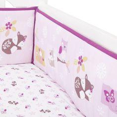 Lavender Woods Crib Bumper