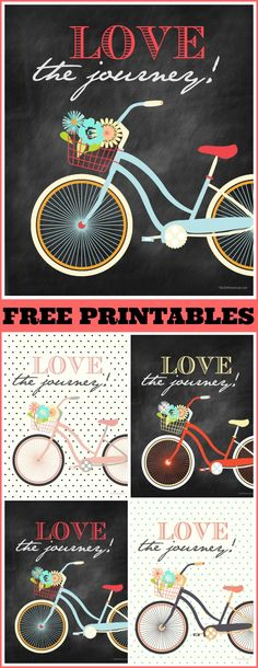 "Oh my cuteness! Super adorable ""Love The Journey"" Free Printables! #printables #home"
