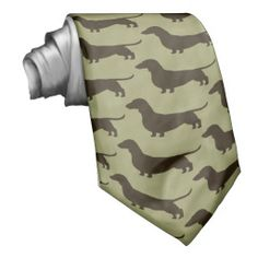 Dachshund Silhouettes Pattern Necktie - Use this link for coupon codes: https://www.zazzle.com/coupons?rf=238077998797672559