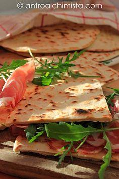 Piadina Romagnola - Piadina (typical bread of Romagna, Italy)