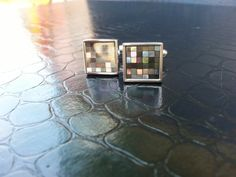 Cufflinks in Grey Mop
