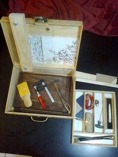 Tool box for bookbinder