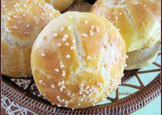Peříčkové houstičky - kaiserky recept - TopRecepty.cz Food Art, Hamburger, Bread, Recipes, Buffy, Hampers, Brot, Baking