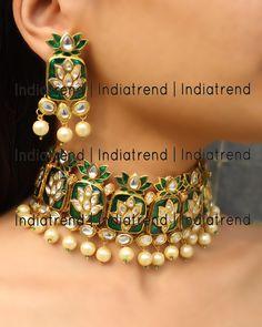Tanishq Necklace Set By indiatrendshop.com #GoldJewelleryTanishq