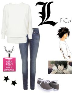 Death Note Casual Cosplay - L Casual Cosplay, Cosplay Outfits, Anime Outfits, Mode Outfits, Outfits For Teens, Casual Outfits, Cosplay Ideas, Anime Inspired Outfits, Character Inspired Outfits