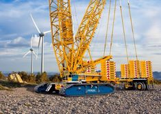 Norwegian rental company Nordic Crane Vest, part of Crane Norway Group, has taken delivery of a 650 tonne Demag CC lattice crawler crane. Mining Equipment, Heavy Equipment, Ac 130, Bucyrus Erie, Crawler Crane, Offshore Wind, Drilling Rig, Oil Rig, Heavy Machinery