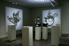 Sarah Abramson - MFA Thesis Exhibition display 2008. Great use of space.