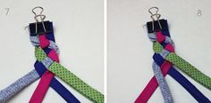 How To Braid With Four Strands - perfect for making diy fabric jewelry