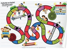 A boardgame with kids and buildings Team Building Activities, Group Activities, Activities For Kids, Social Skills For Kids, Social Work, Printable Board Games, Emotional Development, English Lessons, Health Education