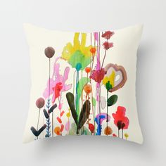 viva Throw Pillow by Sylvie Demers | Society6