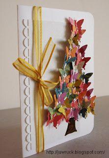 Natal e Butterflies...Cartão artesanal de Scrapbook ~ Love to Keep