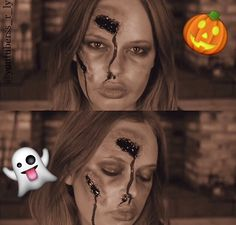 http://amadealzon.com/2014/10/156/ | Tanya Burr last year's zombie makeup tanya burr,  makeup -  #halloween costume  #halloween makeup  scary -  #costume tutorial -  ghost,  #zombie  #Halloween