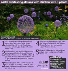 Make Everlasting Alliums with Chicken Wire & Paint!: