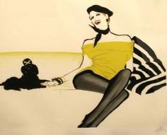 "Illustration by René Gruau, ""FIFI"". by LADY_VIOLA"