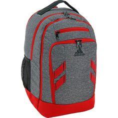 ec09907dda Image of adidas Rush Backpack Heather Grey Scarlet - adidas Laptop Backpacks