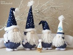Easy gnomes diy learn how to make them today – ArtofitScandinavian Christmas decoration Gnomes and deer Nordic Cadorable Christmas gnome in white with mint-green hat and mittens, carrying a white Christmas tree - SalvabraniNo Decora's media content Christmas Gnome, Scandinavian Christmas, Christmas Projects, Handmade Christmas, Christmas Ornaments, Pink Christmas Decorations, Tree Decorations, Holiday Crafts, Holiday Decor