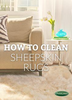 wash sheepskin rug in washing machine